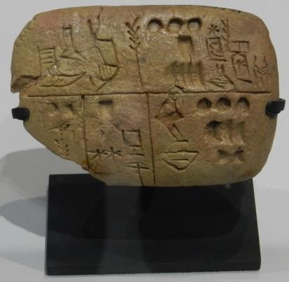 1 tablette pre-cuneiforme 2