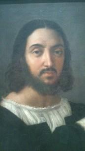 132 - autoportrait avec un ami - raphael - visage du peintre