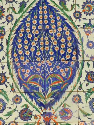 145 panneau mausolee de selim - istanbul detail