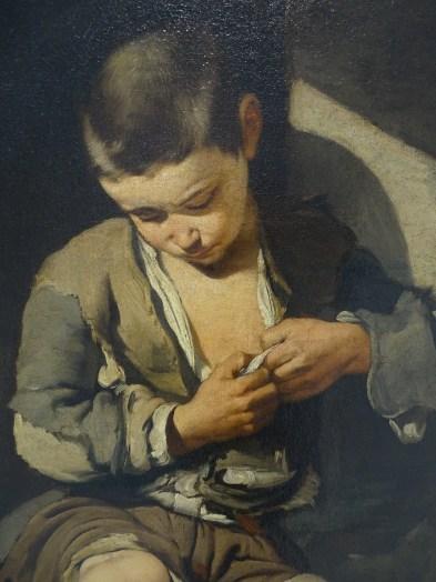 165 - murillo - jeune mendiant - détail
