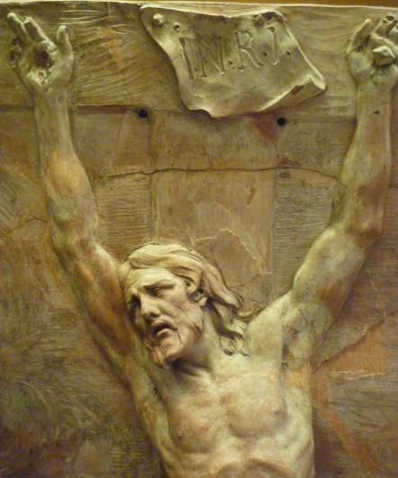 167 - christ mourant sur la croix - puget - haut