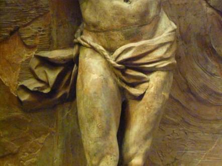 167 - christ mourant sur la croix - puget - pagne