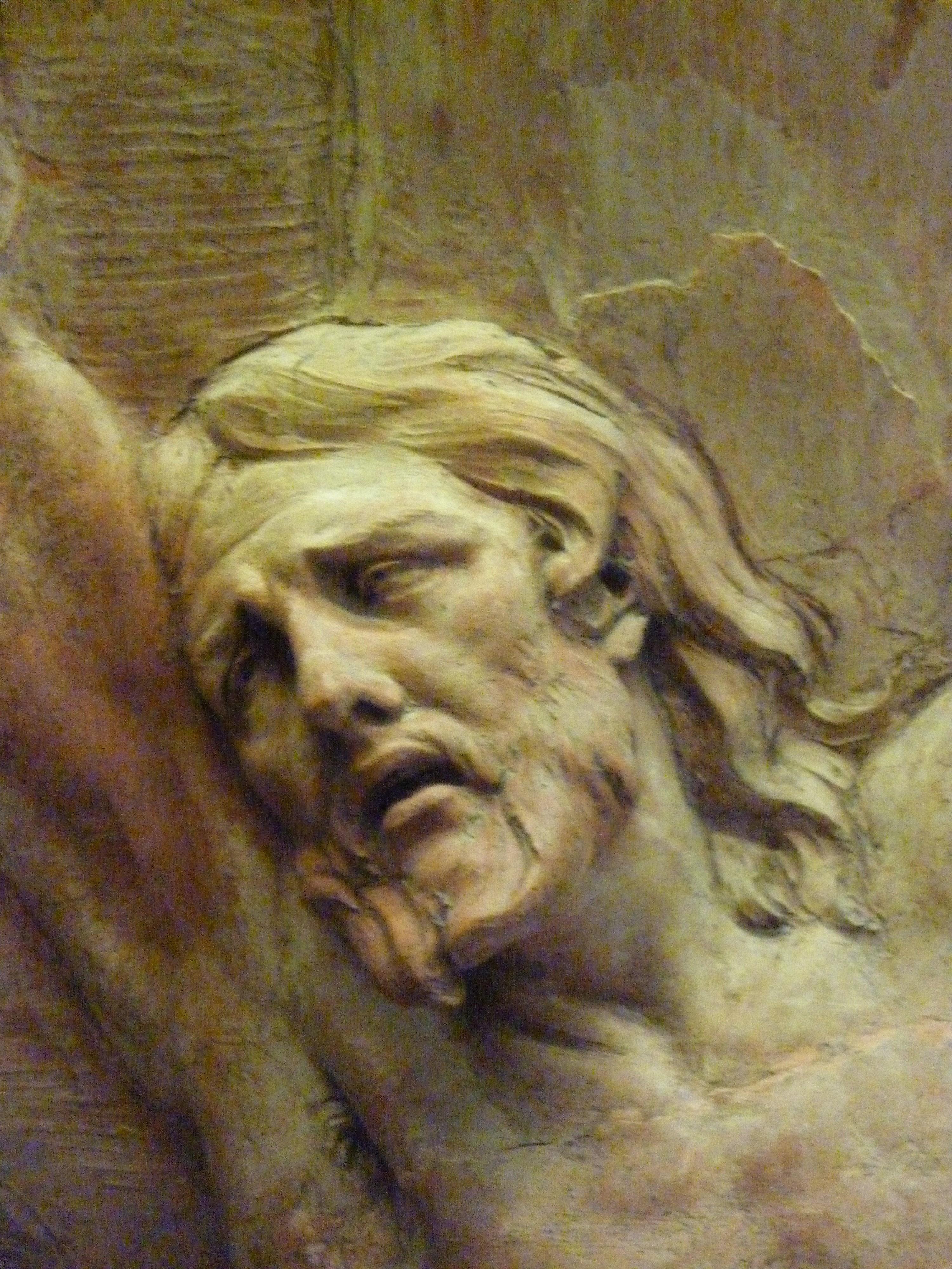 167 - christ mourant sur la croix - puget - tete
