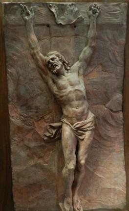 167 - christ mourant sur la croix - puget - trois-quart gauche 1