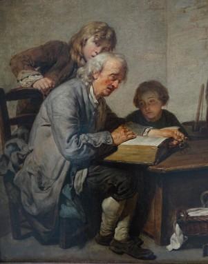 191 - greuze - lecture de la bible - personnages gauche