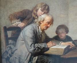 191 - greuze - lecture de la bible - personnages gauche réduit