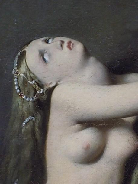203 -ingres - roger delivre angelique - buste dangelique