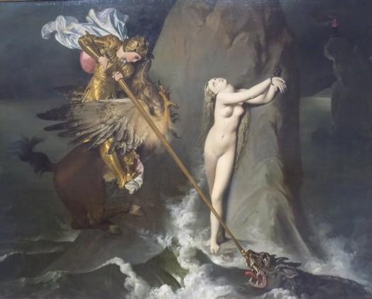 203 - ingres - roger delivre angelique