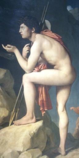 203 - oedipe explique lenigme du sphinx - ingres - le heros 2