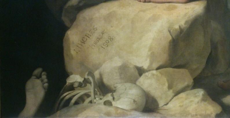 203 - oedipe explique lenigme du sphinx - ingres - ossements