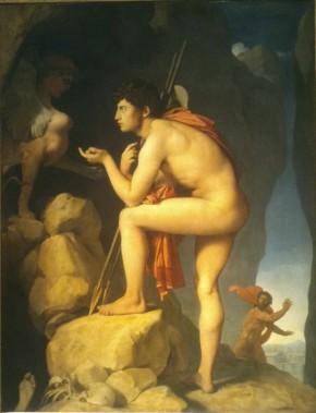 203 - oedipe explique lenigme du sphinx - ingres