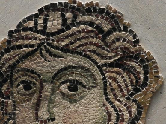 96 tete dange - basilique de torcello - yeux et chevelure