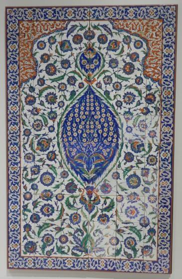 parcours a oeuvre n°10 panneau céramique istambul