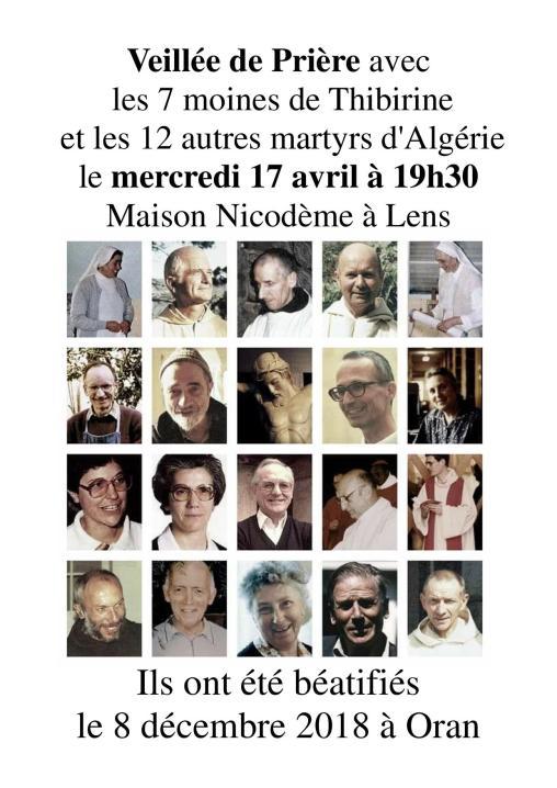 Invitation veillée prière martyrs d Algérie