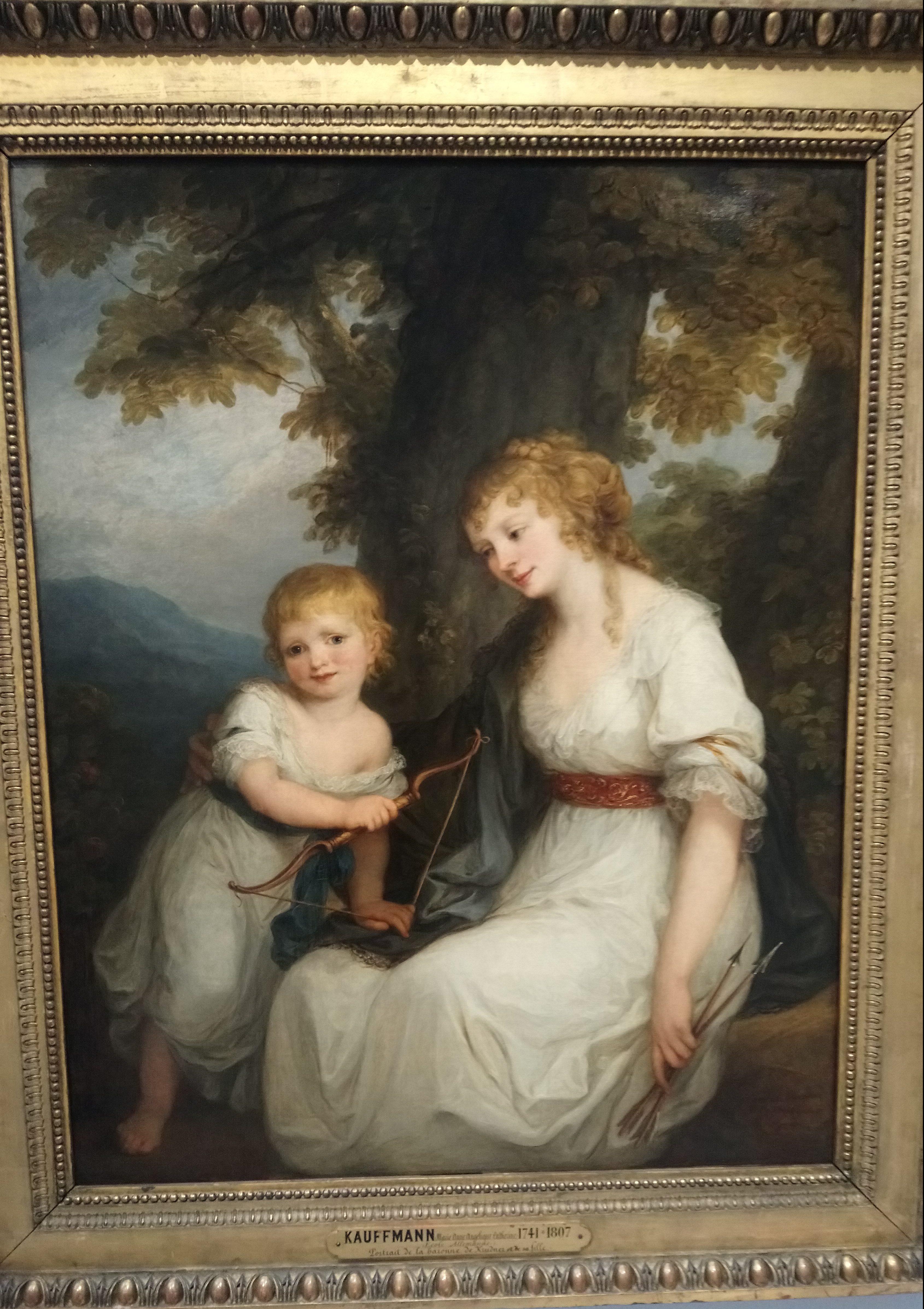 185 - Angelika Kauffmann - Barbara Juliane von Wietinghoff et son fils Paul